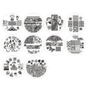 Born Pretty 10pcs 01-10 Nail Art Stamping Image Plates