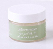 BEST Eye Gel; Cucumber Eye Gel from Jules and Esther; Natural and Organic Ingredients; Hydrates and Reduces Puffiness, Fine Lines and Wrinkles; Great for Mature, Dry, Oily, or Sensitive Skin; for Women and Men; 30ml