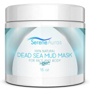 Serene Auras Deep Cleansing Facial Mask - Achieve More Beautiful, Radiant Skin - Moisturises and Cleans while Reducing Pores - Reduces the Appearance of Wrinkles and Lines - All-Natural Formula (Dead Sea Mud) - Detoxifier and Purifier