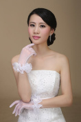 Exquisite Tulle Flower Bridal Gloves