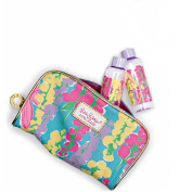 Lilly Pulitzer Makeup Bag Spring 2013 with 2 Matching Bottles Estee Lauder Exclusive