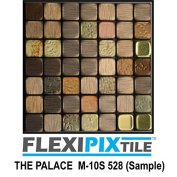 FLEXIPIXTILE, Sample, Aluminium Mosaic Tile, Peel & Stick, Kitchen Backsplash, Accent Wall, THE PALACE