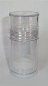 Clear 30ml Lotion Bar Tubes/Round Push Up Base and Cap Set / Lot of 12