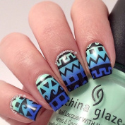 Twinkled T Tribal Aztec Pattern Stencils Nail Vinyls, Tape, Guides, Stencils, Stickers for Easy Nail Art - Sheet of 16 Stencils
