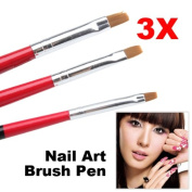 ACE 3x Soft and Professional Pen Nail Art Brushes Tool Set