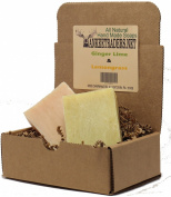 Yankee Traders Brand All Natural Handmade Soap Assortment, Ginger Lime and Lemongrass Citrus