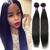 Beauty Human Hair Brazilian Virgin Hair Straight 3Bundles Human Hair Extensions Brazilian Straight Hair 8-70cm Natural Black Hair Soft Hair Can Be Dyed