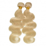 Grade 6a Blonde Hair Weave 613# Colour Hair Extension Brazilian Body Wave Blonde Hair