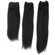 36cm - 60cm Raw Virgin Brazilian Human Hair Extensions 300g 3 Bundles Straight 7A Grade Weft #1B Natural Black