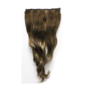 Mcoser Gorgeous Long Curly Clip-on Hair Extension Wigs Brown