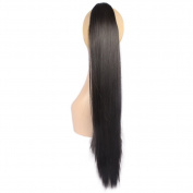 Toptheway 60cm & 165g Synthetic Ponytail Claw Clip In Hair Extensions Heat Resistent Hair Piece Different Colours