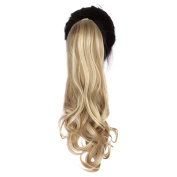 Toptheway Heat Resistent Synthetic Wavy Ribbon Ponytail Clip In Hair Extensions