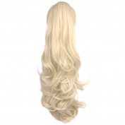 Toptheway Ponytail Hair Piece Drawstring Claw Clip In Hair Extensions Wavy Synthetic Diverse Colours