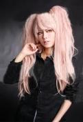 Mzcurse 80cm Danganronpa Dangan-ronpa Junko Enoshima Long Ponytails Pink Cosplay Hair Wig Costume