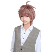 Mzcurse Dangan-ronpa Kibou No Gakuen to Zetsubou No Koukousei Naegi Makoto Cosplay Hair Wig