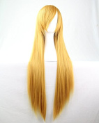 Ellena®Womens/Ladies 80cm Yellow Colour Long STRAIGHT Cosplay/Costume/Anime/Party/Bangs Full Sexy Wig