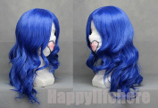 NEW Fairy Tail Juvia Loxar Long Curly Dark Blue Anime Cosplay Hair Wig + Free Wig Cap