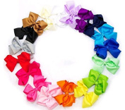 LaVieEnRose 10pc 13cm Boutique Hair Bows Girls Baby Alligator Clip Grosgrain Ribbon