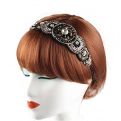 Amoy Fashion Handwork Beads Hair Band Elastic
