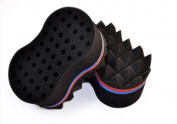 New Pyramid Design Double Side Two in One Magic Twist Hair Sponge Afro Braid Style Dreadlock Coils Sponge Brush