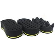 Sinsun 3pcs Magic S-Curve Barber Sponge Brush for Twists/Coils/ Dreads(8MM & 10MM),Black