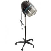 GHP Adjustable Stand Up Hood Rolling Base Salon Wheels Hair Bonnet Dryer