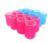 Self Grip Velcro Hair Rollers Pro Salon Hairdressing Curlers Assorted Colours