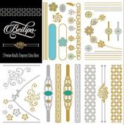 Metallic Sexy Temporary Tattoos 5 Premium Sheets Jewellery Inspired for Body Art