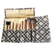 Fashion Zone 9Pc Fashion Makeup Cosmetic Brush Set Brown
