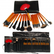 Fashion Zone 26 Natural Animal Wool Makeup Mineral Brush Set
