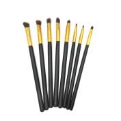 Professional Cosmetic Makeup Eye Brush Set - Eyeshadow Eyeliner Blending Crease Kit - 8pcs Essential Makeup Brushes - Pencil, Shader, Tapered, Definer - Last Longer, Apply Better Makeup & Make You Look Flawless!