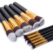 Kingtop Professional Makeup Brush Set Premium Synthetic Kabuki Makeup Brush Set Cosmetics Foundation Blending Blush Eyeliner Face Powder Brush Makeup Brush Kit