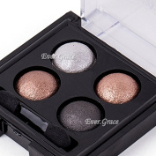 Highlight 4colors Ultra Shimmer Baked Eyeshadow Palette Neutral Warm Nude Makeup
