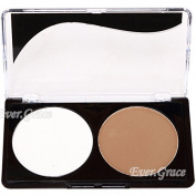 2color Makeup Face Powder Palette Shading Highlight Shadow Concealer Bronzer Kit