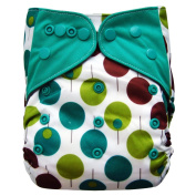 Charcoal Bamboo All In One Cloth Nappy with Pocket