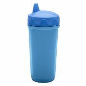 Zak! Designs Toddlerific Blue Perfect Flo Toddler Cup, Double Wall Insulated Construction and Adjustable Flow Technology, Break-resistant and BPA-free Plastic, 260ml