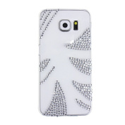 EVTECH(TM) Diamante Pattern Diamond Rhinestone Crystal Bling Bling Glitter Fashion Style Transparency Back Cover Cell Phone Case for Samsung Galaxy S6 Edge Plus Samsung Galaxy S6 Edge +