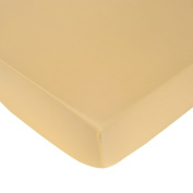 Carter's Sateen Fitted Crib Sheet, Yellow