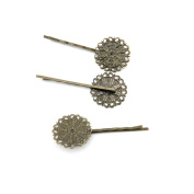 Price per 160 Pieces Antique Bronze Jewellery Making Charms Findings Supplies Y6CI5 Flower Hairpin Craft Ancient Repair Lots DIY Pendant Vintage