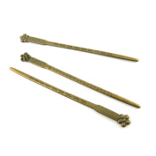 Price per 3 Pieces Antique Bronze Jewellery Making Charms Findings Supplies N9QQ2 Plum Flower Hairpin Head Pins Craft Ancient Repair Lots DIY Pendant Vintage
