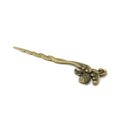 Price per 40 Pieces Antique Bronze Jewellery Making Charms Findings Supplies Q8XJ6 Fish Hairpin Bookmark Wholesale Ancient Fashion Bulk Retro Supply