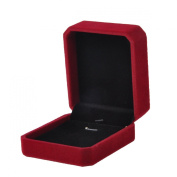 VALYRIA Wine Red Rectangle Jewellery Necklace Displays Package Box Case 7x8.2cm