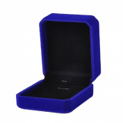 VALYRIA Sapphire Rectangle Jewellery Necklace Displays Package Box Case 7x8.2cm
