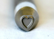 "Supply Guy 3/8"" Premier Advantage Series 3mm Heart Metal Design Stamp - SGAD-2"