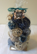Jodhpuri Inc. Decorative Spheres (Blue) Rattan Vase Filler