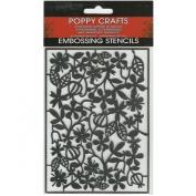 Poppy Crafts Stainless Steel Stencils 11cm x 16cm -Poppy Garden