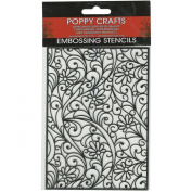 Poppy Crafts Stainless Steel Stencils 11cm x 16cm -Daisy & Swirls