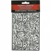 Poppy Crafts Stainless Steel Stencils 11cm x 16cm -Daisy & Swirls