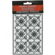 Poppy Crafts Stainless Steel Stencils 11cm x 16cm -Classic Motiff