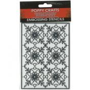 Poppy Crafts Stainless Steel Stencils 11cm x 16cm -Classic Motiff